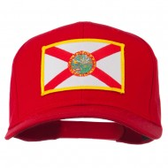 Eastern State Florida Embroidered Patch Cap - Red