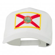 Eastern State Florida Embroidered Patch Cap - White