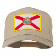 Eastern State Florida Embroidered Patch Cap - Khaki