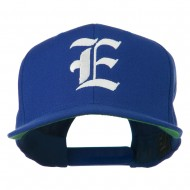 Old English E Embroidered Flat Bill Cap - Royal