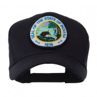 US Eastern State Seal Embroidered Patch Cap - Indiana