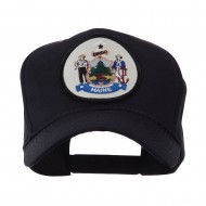 US Eastern State Seal Embroidered Patch Cap - Maine