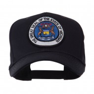 US Eastern State Seal Embroidered Patch Cap - Michigan