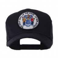 US Eastern State Seal Embroidered Patch Cap - New Jersey