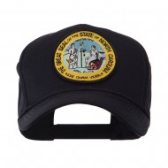 US Eastern State Seal Embroidered Patch Cap - North Carolina