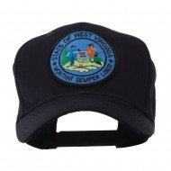 US Eastern State Seal Embroidered Patch Cap - West Virginia