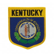 Eastern State Flag Embroidered Patch Shield - Kentucky