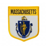 Eastern State Flag Embroidered Patch Shield - Massachussets