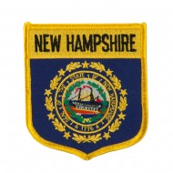 Eastern State Flag Embroidered Patch Shield - New Hampshire