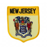 Eastern State Flag Embroidered Patch Shield - New Jersey