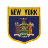 Eastern State Flag Embroidered Patch Shield - New York