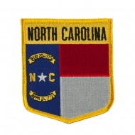 Eastern State Flag Embroidered Patch Shield - North Carolina