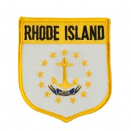 Eastern State Flag Embroidered Patch Shield - Rhode Island