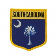 Eastern State Flag Embroidered Patch Shield - South Carolina