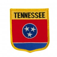 Eastern State Flag Embroidered Patch Shield - Tennessee
