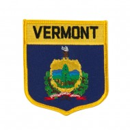 Eastern State Flag Embroidered Patch Shield - Vermont