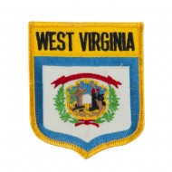 Eastern State Flag Embroidered Patch Shield - West Virginia