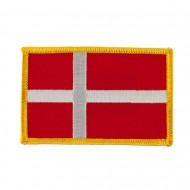 Europe Flag Embroidered Patches - Denmark
