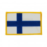 Europe Flag Embroidered Patches - Finland