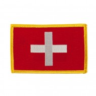 Europe Flag Embroidered Patches - Switzerland