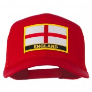 England Flag Patched Mesh Cap - Red