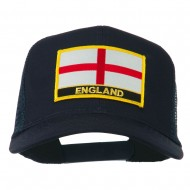 England Flag Patched Mesh Cap - Navy