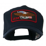 Eagle Military Large Embroidered Patch Cap - USA