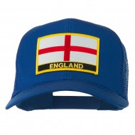 England Flag Patched Mesh Cap - Royal