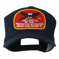 Eagle Military Large Embroidered Patch Cap - Gun