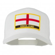 England Flag Patched Mesh Cap - White