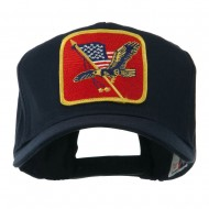 Eagle Military Large Embroidered Patch Cap - Eagle 4