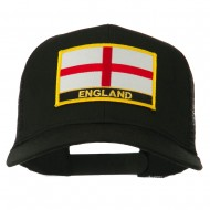 England Flag Patched Mesh Cap - Black