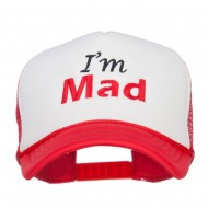 I'm Mad Embroidered Foam Mesh Cap - Red White