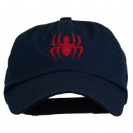 Halloween Spider Embroidered Pet Spun Washed Cap - Navy