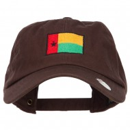 Guinea Bissau Flag Embroidered Unstructured Cap - Brown
