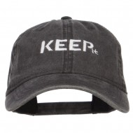 Keep It Embroidered Washed Cap - Black