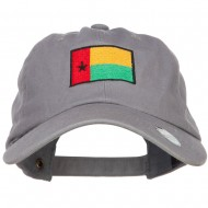 Guinea Bissau Flag Embroidered Unstructured Cap - Grey