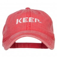 Keep It Embroidered Washed Cap - Red
