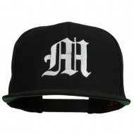 Old English M Embroidered Cap - Black