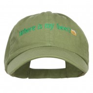 Where's My Beer Embroidered Low Cap - Cactus