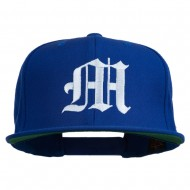 Old English M Embroidered Cap - Royal