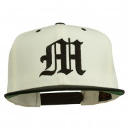 Old English M Embroidered Cap - Natural Black