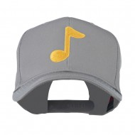 Eighth Note Music Symbol Embroidered Cap - Grey