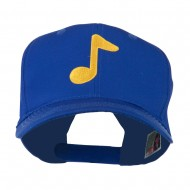 Eighth Note Music Symbol Embroidered Cap - Royal