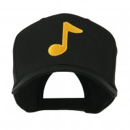 Eighth Note Music Symbol Embroidered Cap - Black