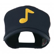 Eighth Note Music Symbol Embroidered Cap - Navy