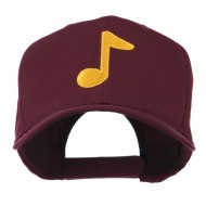 Eighth Note Music Symbol Embroidered Cap - Maroon