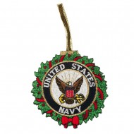 U.S. Armed Forces Embroidered Ornament Medallion - US Navy