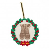 U.S. Armed Forces Embroidered Ornament Medallion - Army Boots