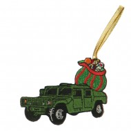 U.S. Armed Forces Embroidered Ornament Medallion - Truck